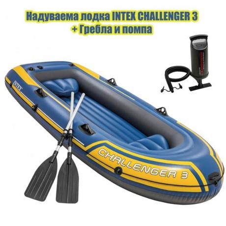 Триместна надуваема лодка Challenger 3 от INTEX