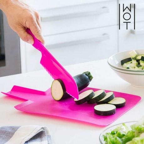 Комплект сгъваема кухненска дъска и нож