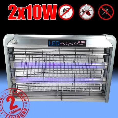 Мощна LED лампа против комари 2 х 10W