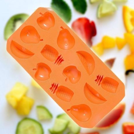 Оранжева силиконова форма за лед - плодчета