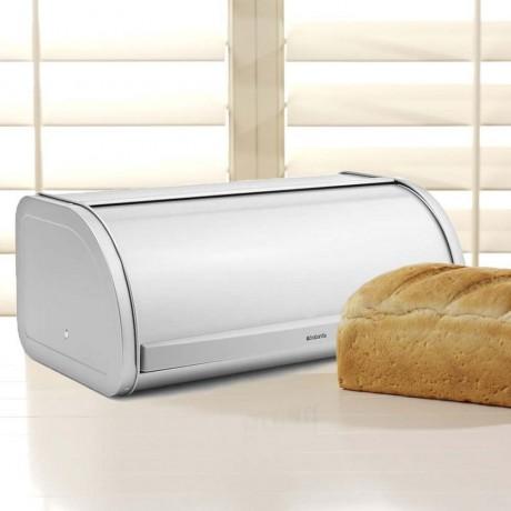 Метално сиво кутия за хляб с въртяща вратичка Brabantia