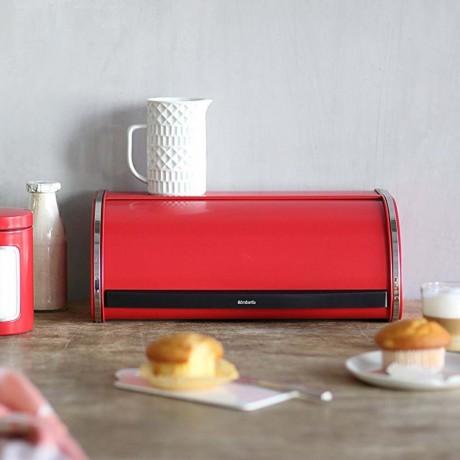 Страстно червена кутия за хляб с въртяща вратичка Brabantia