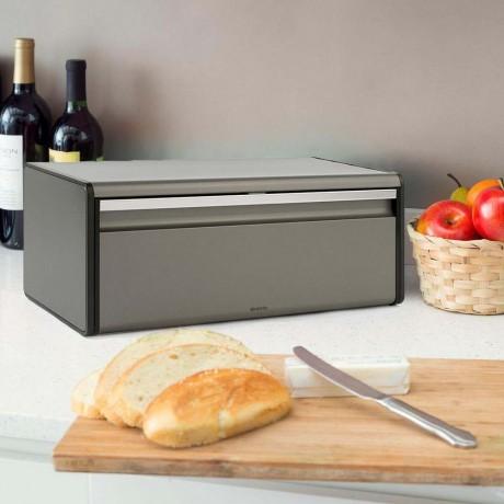 Платинена кутия за хляб Brabantia с падащ преден капак