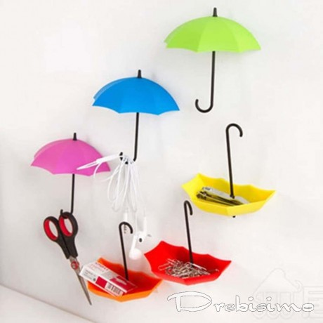 2 лепящи закачалки - цветни чадърчета