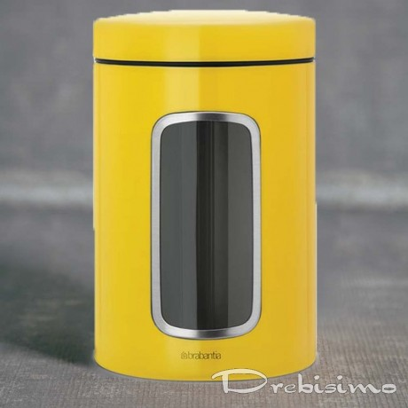 1,4 л. жълт буркан със страничен прозорец Brabantia