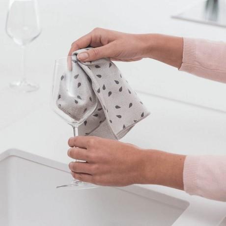 Микрофибърна кърпа за съдове, 2 бр, Brabantia, Light Grey