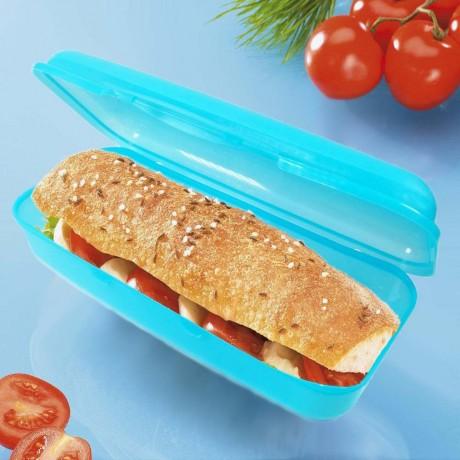 1,2 л. кутия за храна за продълговат сандвич багета