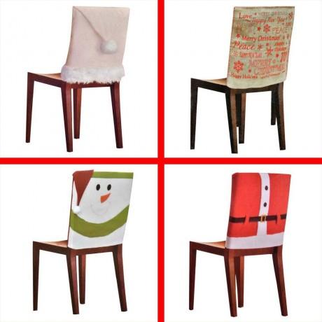 Коледни калъфки за облегалка на стол