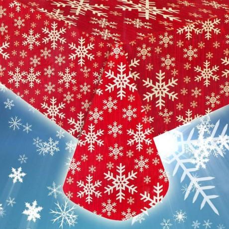 Коледна мушама със снежинки