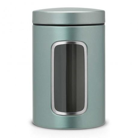 1,4 л. метал мента цвят буркан със страничен прозорец Brabantia