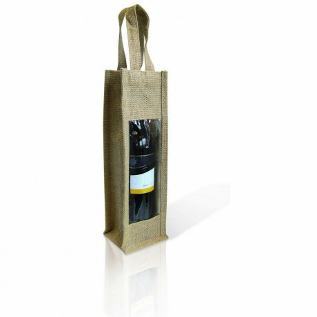 Луксозна чантичка за бутилки JUTE с прозорче от Vin Bouquet