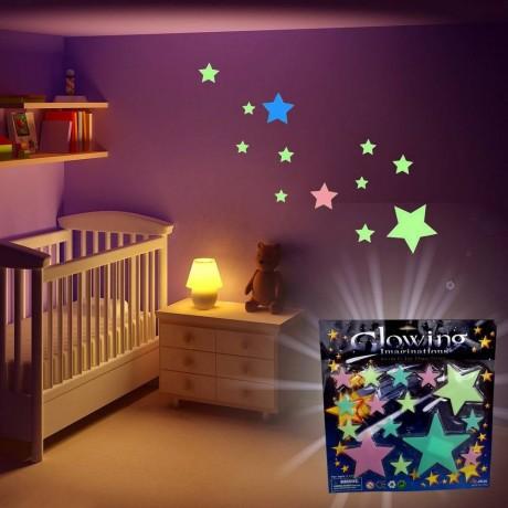 Комплект от светещи звездички