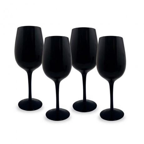 Сет от 4 черни чаши за вино от Vin Bouquet