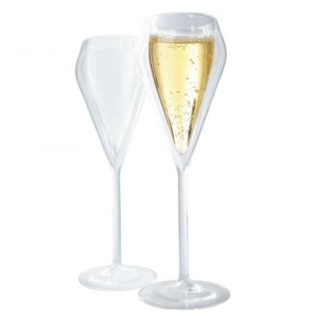 Комплект от 2 бр. двустенни стъклени чаши за шампанско от Vin Bouquet