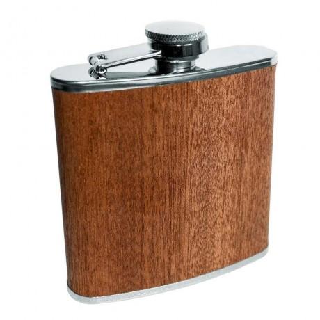 Комплект бутилка за алкохол (с дървена облицовка) и фуния от Vin Bouquet