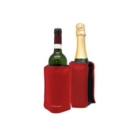 Охладител за бутилки с гел - червен от Vin Bouquet