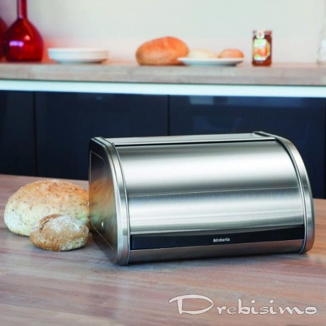 Кутия за хляб Brabantia Roll Top Medium, Matt Steel