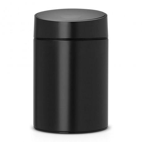 5 л. черна кофа за смет Brabantia вид Slide