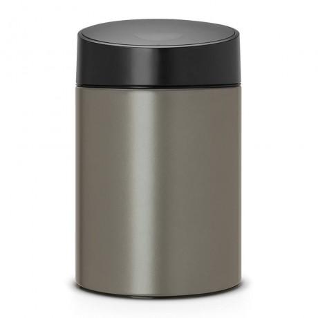 5 л. платинен цвят кофа за смет Brabantia вид Slide