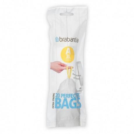 3 л. бели торбички за кош 20 бр. Brabantia размер A