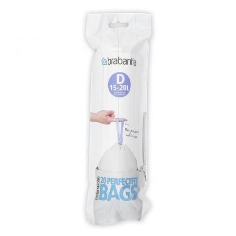 15 - 20 л. бели торбички за кош 20 бр. Brabantia размер D