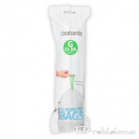 23 - 30 л. бели торбички за кош 20 бр. Brabantia размер G