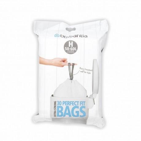 50 - 60 л. бели торбички за кош 30 бр. Brabantia размер H