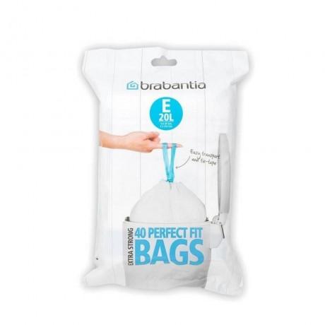 20 л. бели торбички за кош 40 бр. Brabantia размер E