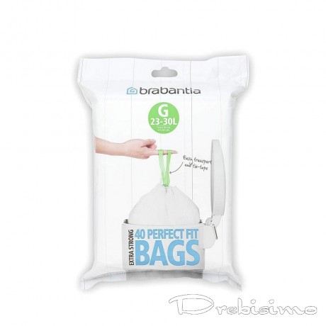 23 - 30 л. бели торбички за кош 40 бр. Brabantia размер G
