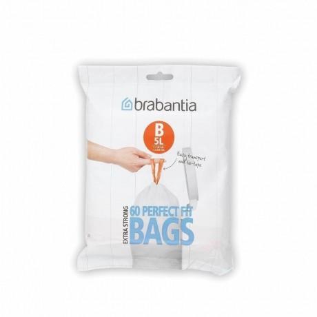 5 л. бели торбички за кош 60 бр. Brabantia размер B