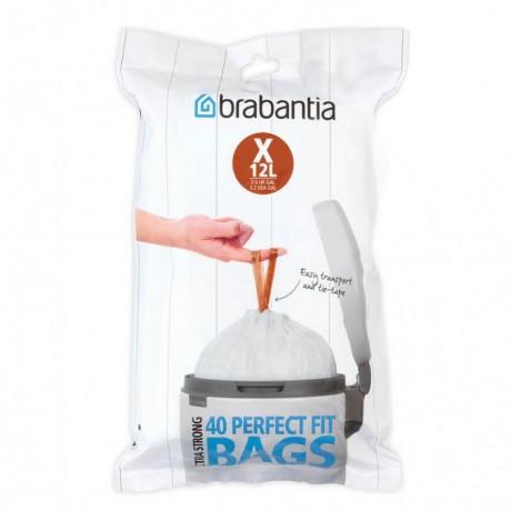 10 - 12 л. бели торбички за кош 40 бр. NewIcon/Bo Brabantia, размер Х