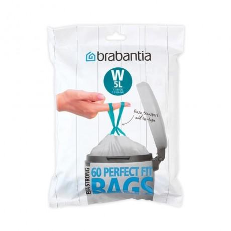 5 л. бели торбички за кош 60 бр. NewIcon Brabantia, размер W