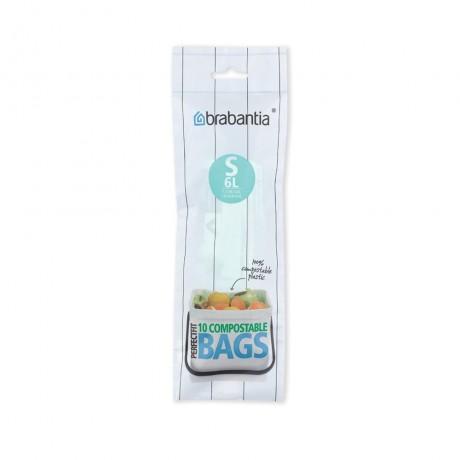 6 л. зелени торбички за кош 10 бр. Sort & Go. Brabantia, размер S