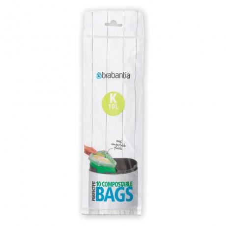 10 л. зелени торбички за кош 10 бр. Twin Brabantia размер K
