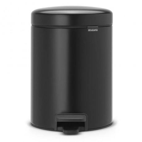 5 л. черна кофа за боклук с педал Brabantia NewIcon