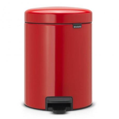 5 л. в страстно червен цвят кофа за боклук с педал Brabantia NewIcon