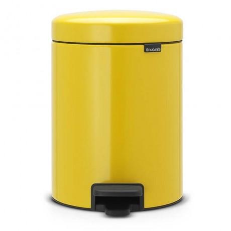 5 л. маргаритково жълта кофа за боклук с педал Brabantia NewIcon