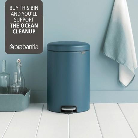20 л. минерално тъмно син кош за боклук с педал Brabantia NewIcon
