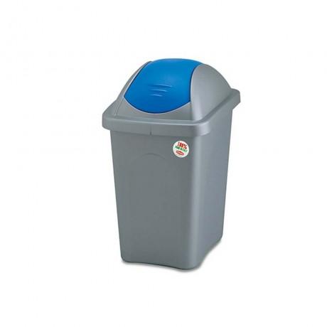 30 л. кош за боклук с люлеещ син капак STEFANPLAST от серия Multipat