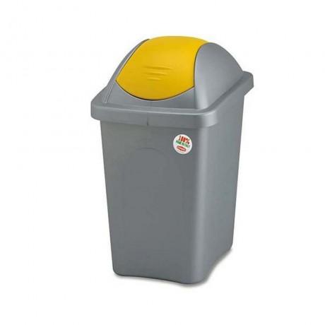 60 л. кош за боклук с люлеещ жълт капак STEFANPLAST от серия Multipat