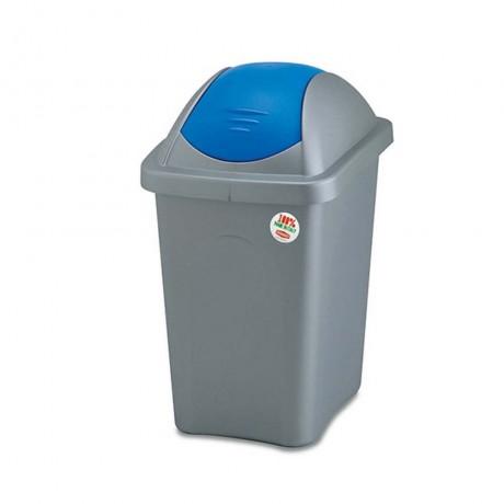 60 л. кош за боклук с люлеещ син капак STEFANPLAST от серия Multipat