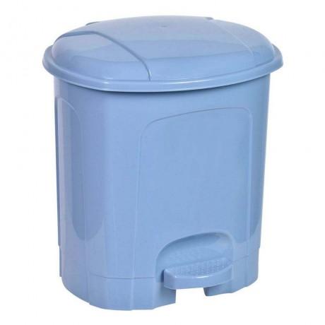 5,5 л. син пластмасов кош за боклук с педал