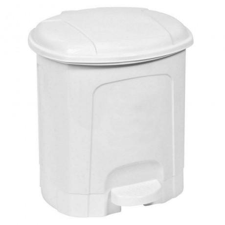 5,5 л. бял пластмасов кош за боклук с педал