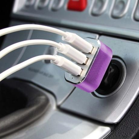 Зарядно с 3 USB изхода за автомобил