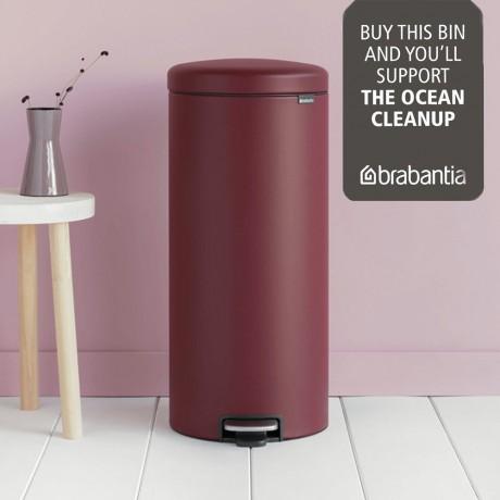 30 л. цвят минерално бордо кош за боклук с педал Brabantia NewIcon