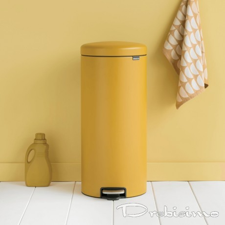 30 л. цвят минерално горчица - жълт кош за боклук с педал Brabantia NewIcon