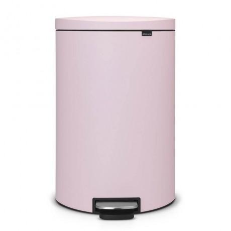 40 л. минерално розов кош за смет с плосък гръб