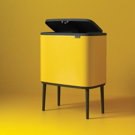 36 л. кош в маргаритково жълт цвят Brabantia серия Bo Touch