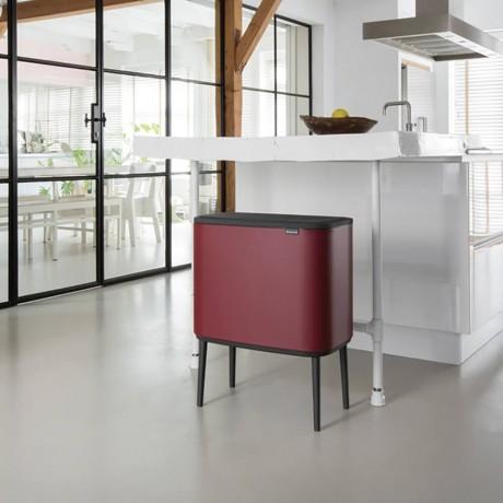 11 + 23 л. кош в цвят минерално бордо Brabantia серия Bo Touch