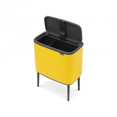 11 + 23 л. кош в маргаритково жълт цвят Brabantia серия Bo Touch